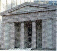 Columns of Greek Revival house, 1820-1860.