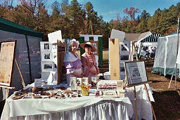 Dressed in clothes reminiscent of the 1800s, some of our members participated in Glen Allen Day, 2003.  They were on hand to promote both Henrico County Historical Society and Henrico history to the community.