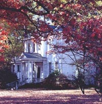 Davis House pictured on a fall day; this home was a Henrico County, Virginia structure that no longer exists.