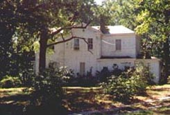 Side view of Davis House, Henrico County, Virginia structure that no longer exists.