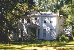 Davis House pictured on a spring day; this home was a Henrico County, Virginia structure that no longer exists.