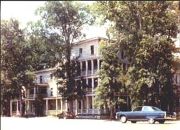 Front view of Forest Lodge, a Henrico County Virginia structure, save its Cupola, that no longer exists.