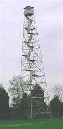 Goochland County fire tower, similar to one in Short Pump, Henrico County, Virginia that no longer exists.