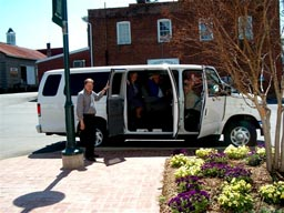 HCHS Delegation with shuttle van used to drive the group to Piedmont Historical Society Conference.