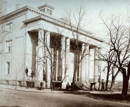 Vintage photo of White House of the Confederacy in Richmond, Virginia.