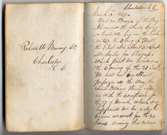 A passenger kept a journal that document his journey on the brig Henrico.