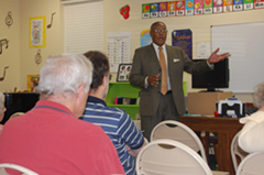 Mr. Melvin Anderson recalls his days at Springfield School.