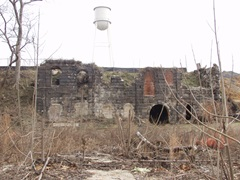 Brewery ruins.