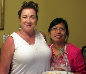 Diane Brownie and the chef, Lurline Wagner.