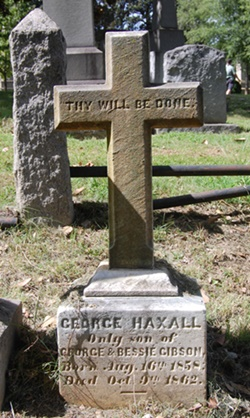 Grave of George Haxall Gibson.