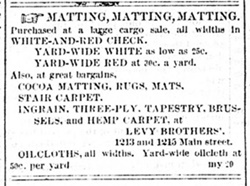 Oil cloth ad in Richmond Times Dispatch May 29 1872.