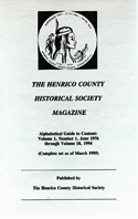 Henrico County Historical Society magazines June 1975 to March 1995.