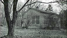 Vintage photo of Deep Run School, before renovations, in Three Chopt District, Henrico County, Virginia.